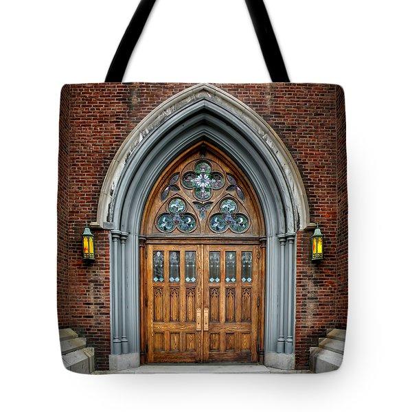 St. John The Evangelist Roman Catholic Church Tote Bag by Steven  Michael