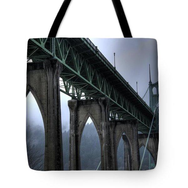 St Johns Bridge Oregon Tote Bag
