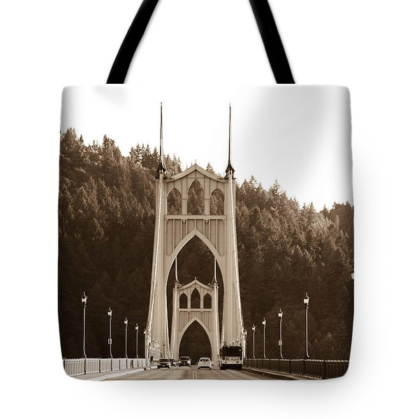 Tote Bag featuring the photograph St. John's Bridge by Patricia Babbitt