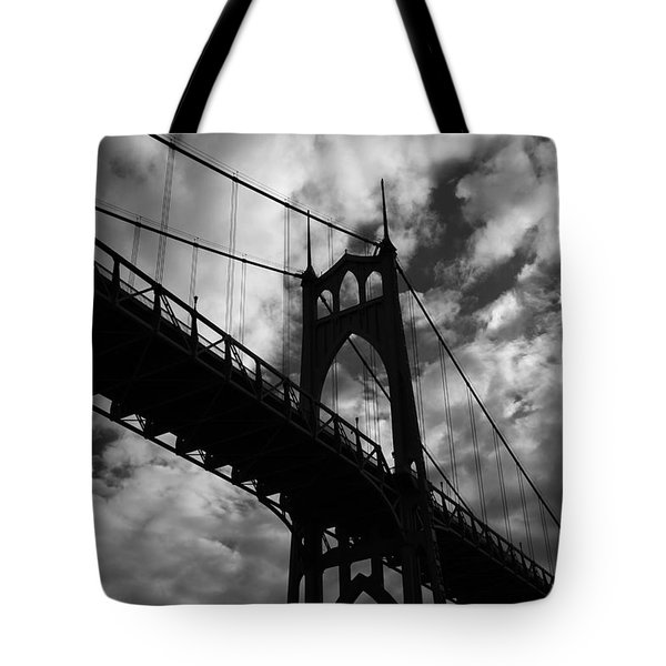 St Johns Bridge Tote Bag by Wes and Dotty Weber