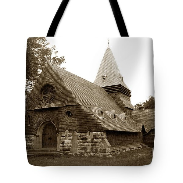 St. Johns Chapel Del Monte Monterey California 1895 Tote Bag