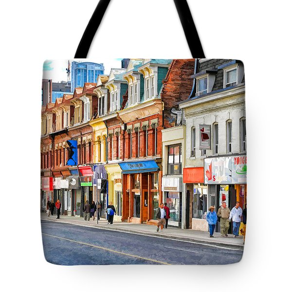 Yonge Street In Toronto Tote Bag