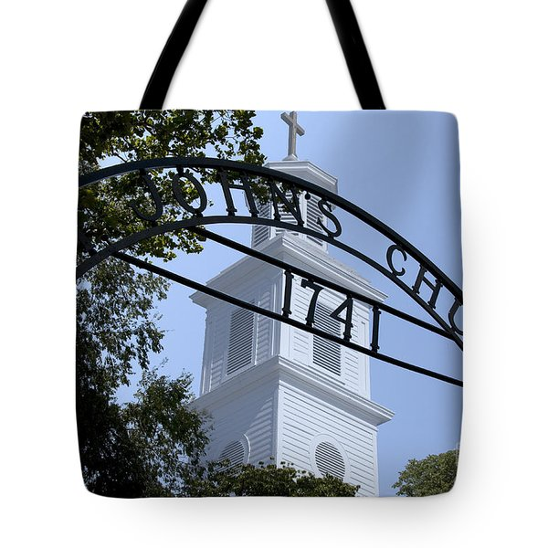Tote Bag featuring the digital art St. John's by Kelvin Booker