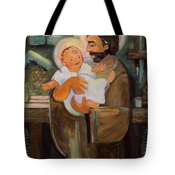 St. Joseph And Baby Jesus Tote Bag