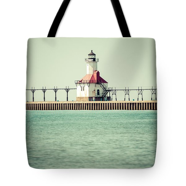 St. Joseph Lighthouse Vintage Picture  Tote Bag by Paul Velgos