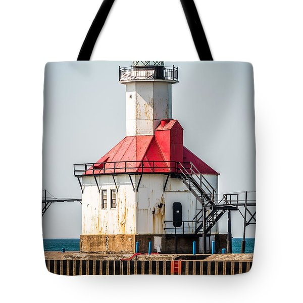 St. Joseph Michigan Lighthouse Picture  Tote Bag by Paul Velgos