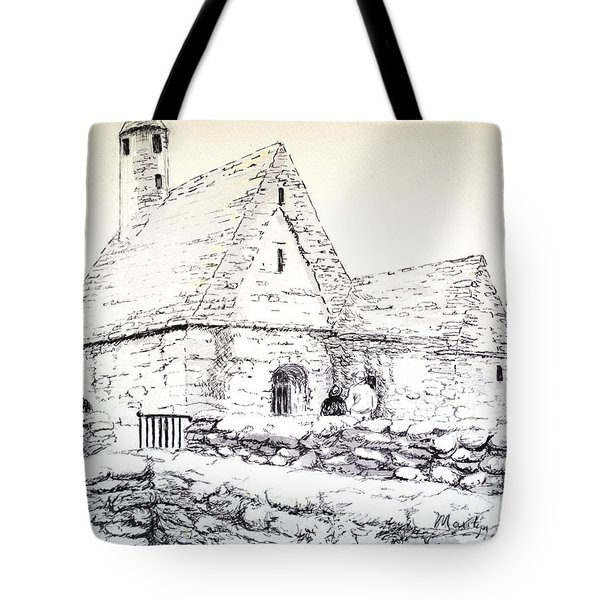 St Kevin's Tote Bag by Marilyn Zalatan