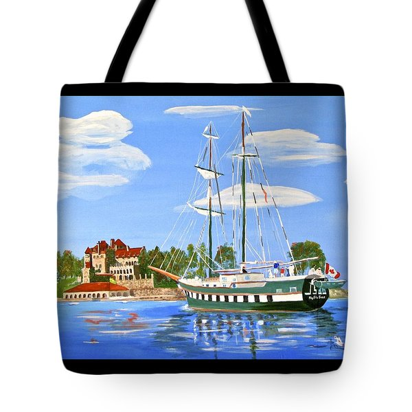 Tote Bag featuring the painting St Lawrence Waterway 1000 Islands by Phyllis Kaltenbach
