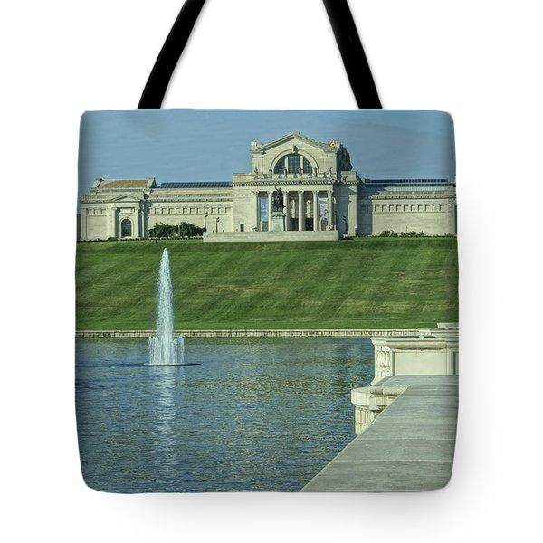 St Louis Art Museum And Grand Basin Tote Bag