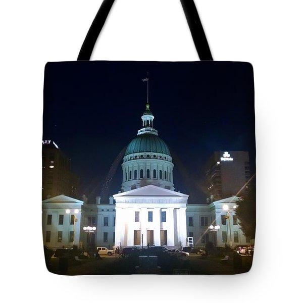 St. Louis At Night Tote Bag by Chris Tarpening