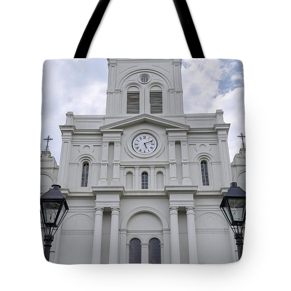 St. Louis Cathedral Close-up Tote Bag