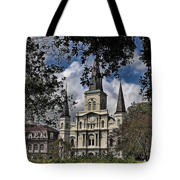 St. Louis Cathedral Tote Bag by Judy Vincent