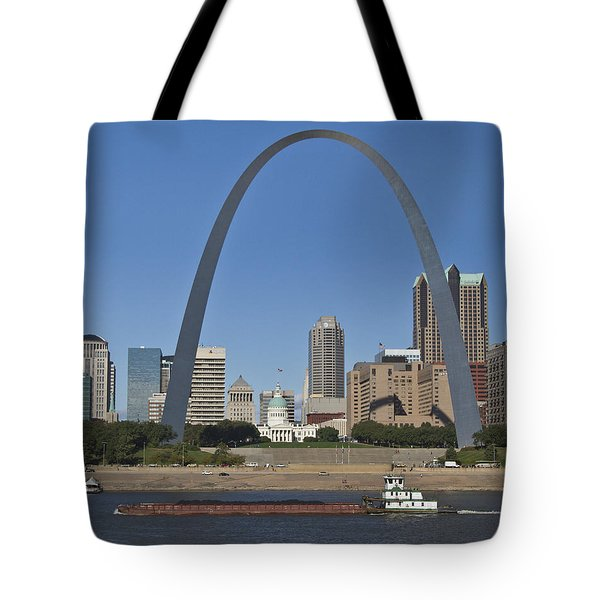 St Louis Skyline Tote Bag