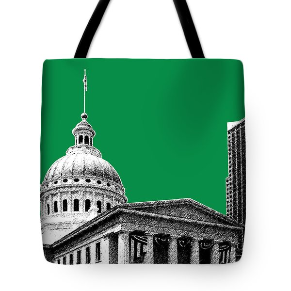 St Louis Skyline Old Courthouse - Forest Tote Bag