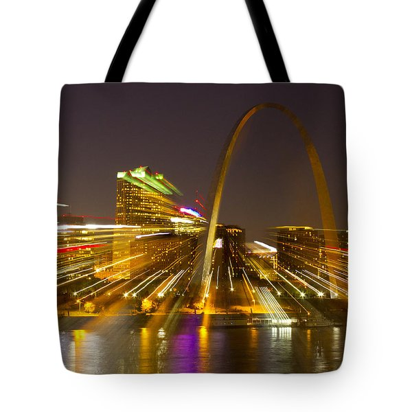 St Louis Skyline With Special Zoom Effect Tote Bag