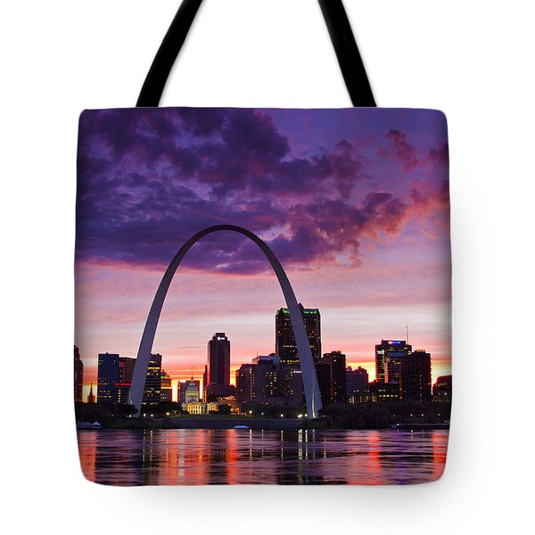 St Louis Sunset Tote Bag