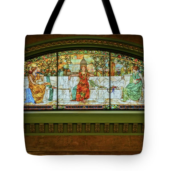 St Louis Union Station Allegorical Window Tote Bag by Greg Kluempers