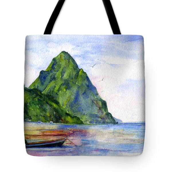 St. Lucia Tote Bag by John D Benson