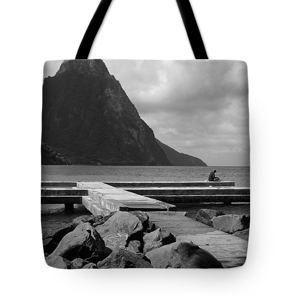 St Lucia Petite Piton 5 Tote Bag