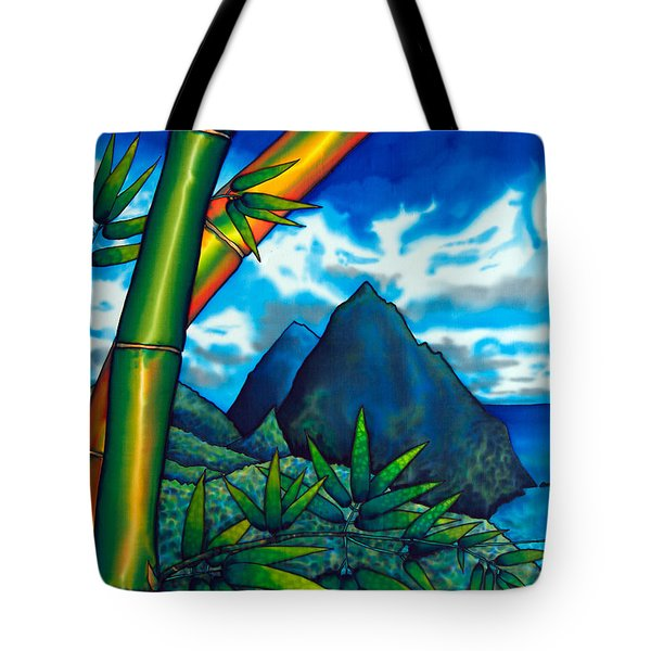 St. Lucia Pitons Tote Bag