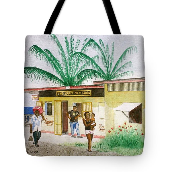 St. Lucia Store Tote Bag by Frank Hunter