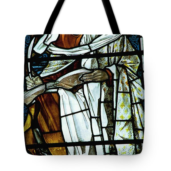 St Luke In Stained Glass Tote Bag by Philip Ralley