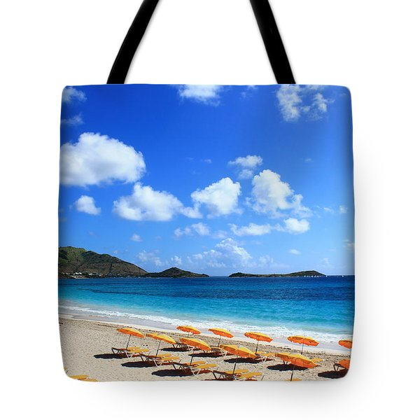 St. Maarten Calm Sea Tote Bag by Catie Canetti