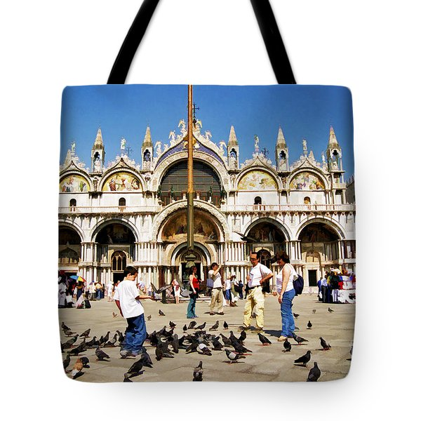 Tote Bag featuring the photograph St. Mark's Basilica  by Allen Beatty