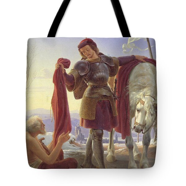 St. Martin And The Beggar, 1836 Oil On Canvas Tote Bag