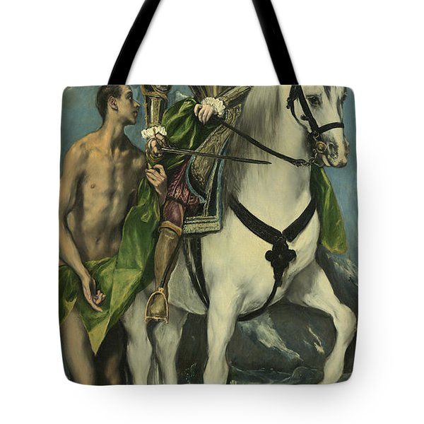 St. Martin And The Beggar Tote Bag by Domenico Theotocopuli El Greco