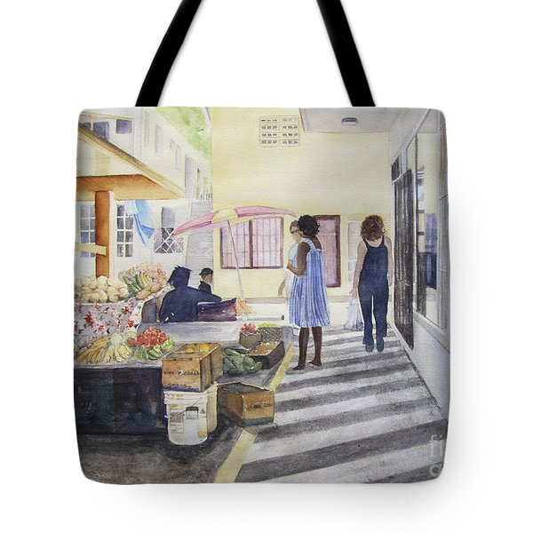 St Martin Locals Tote Bag by Carol Flagg