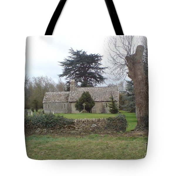 St Mary Church Ampney Tote Bag by John Williams