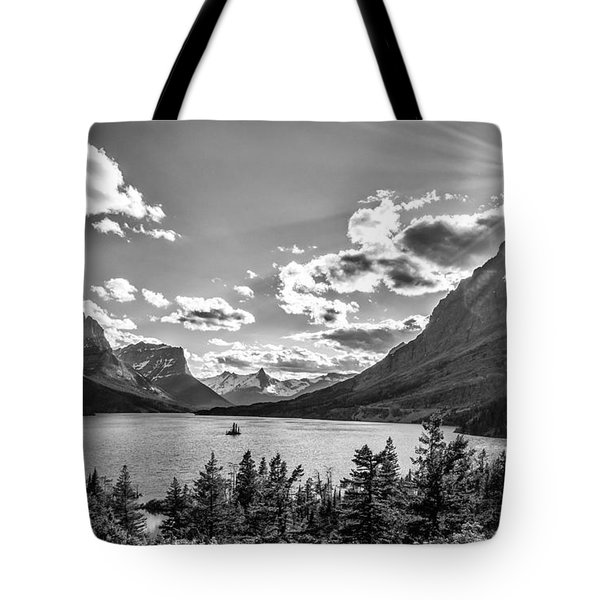 St. Mary Lake Bw Tote Bag