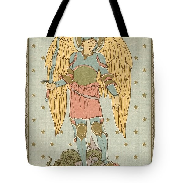 St Michael And All Angels By English School Tote Bag by English School