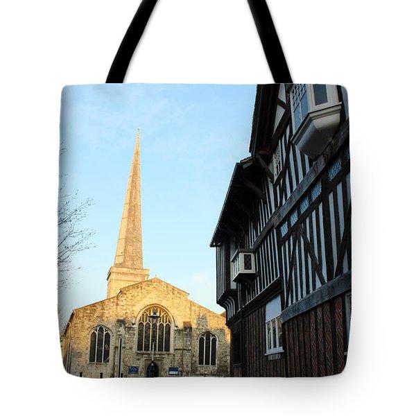 St Michael's Church And Tudor House Southampton Tote Bag by Terri Waters