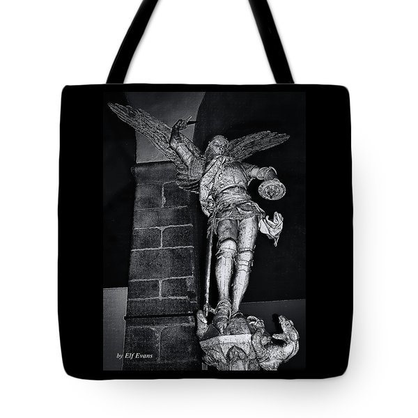 St. Michel Slaying The Dragon Tote Bag by Elf Evans