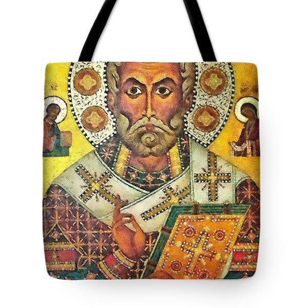 St Nicholas' Icon Tote Bag