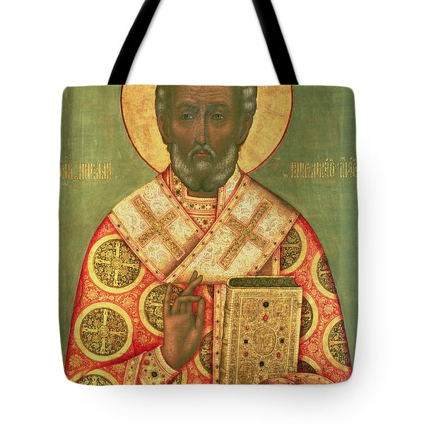St. Nicholas Tote Bag by Russian School