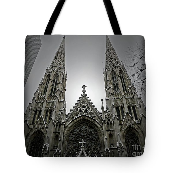 St. Patricks Cathedral  Tote Bag by Angela Wright