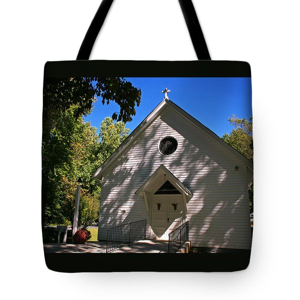 St. Paul  Episcopal Mission Amherst Va Tote Bag by Andy Lawless