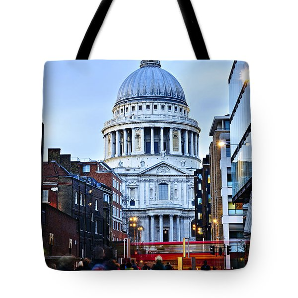 St. Paul's Cathedral At Dusk Tote Bag by Elena Elisseeva