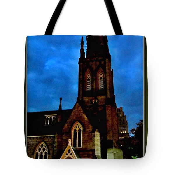 St. Paul's Presbyterian Church Front View Tote Bag by Danielle  Parent