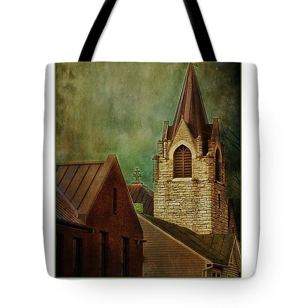 St Peter's By Night Greeting Card Tote Bag
