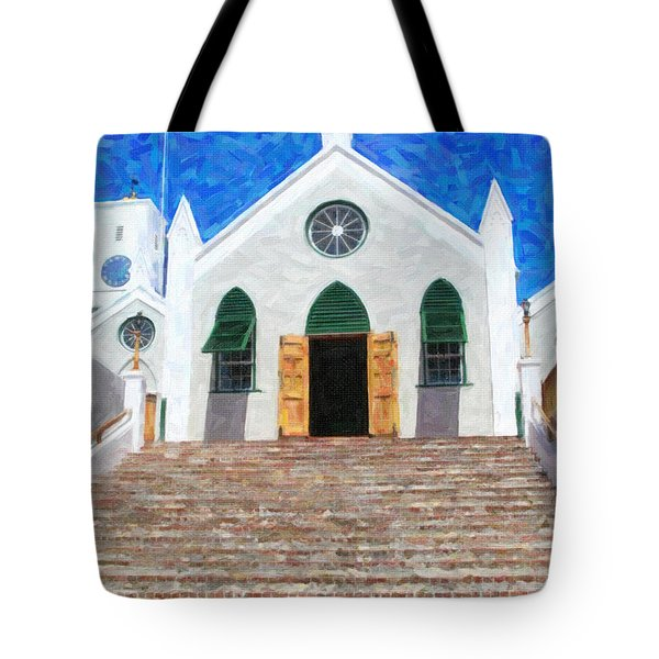 Tote Bag featuring the photograph St. Peter's Church  by Verena Matthew