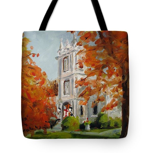 St Peters Episcopal Church Tote Bag by Susan E Jones