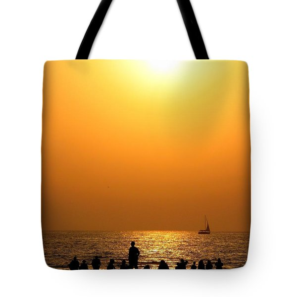 St. Petersburg Sunset Tote Bag by Peggy Hughes