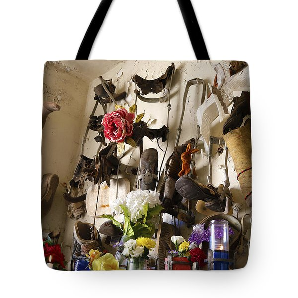 New Orleans St Roch Cemetery Tote Bag by Luana K Perez