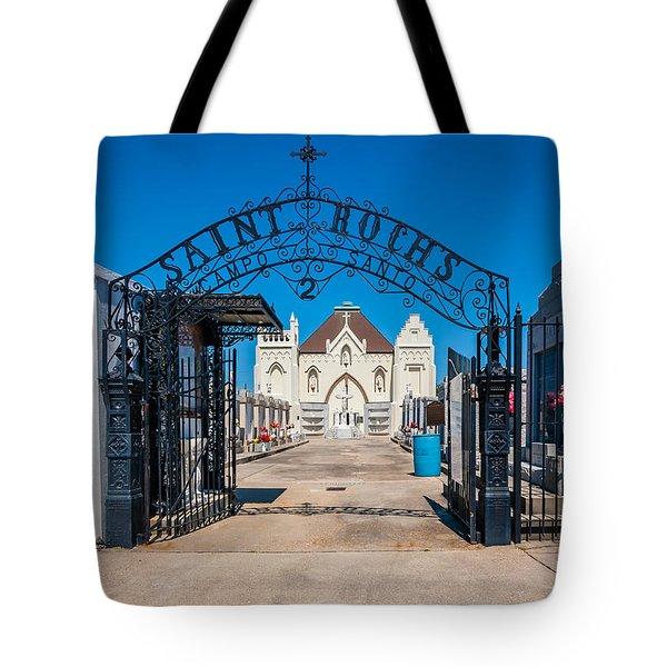St Roch's Cemetery Tote Bag by Steve Harrington