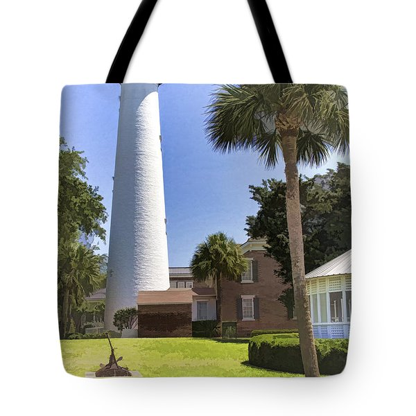 St. Simmons Lighthouse Tote Bag