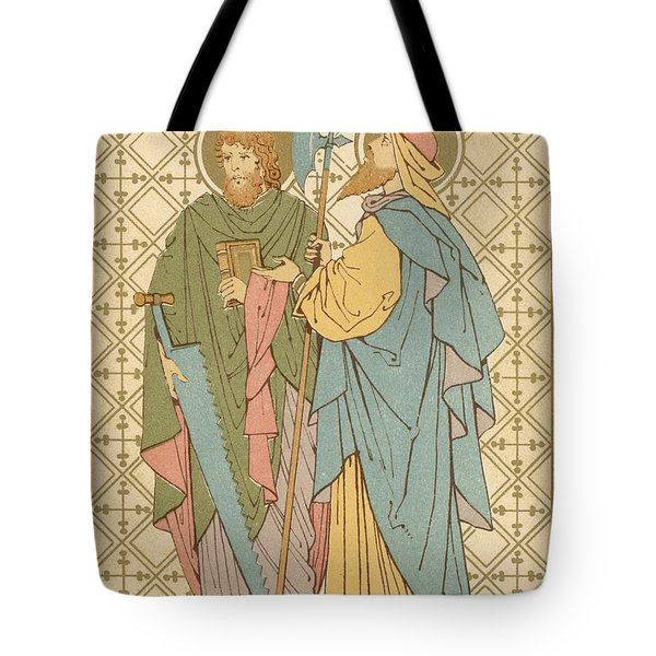St Simon And St Jude Tote Bag by English School